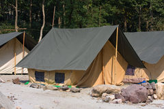 Camp on the Ganges River. India. Stock Image