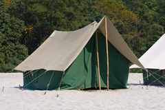 Camp on the Ganges River. India. Royalty Free Stock Images