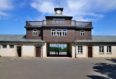 Camp Gate of Buchenwald Stock Images