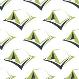 Camp green tents seamless pattern Royalty Free Stock Photography