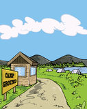 Camp ground cartoon illustration Royalty Free Stock Photo