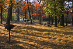 Camp ground in the fall Royalty Free Stock Images
