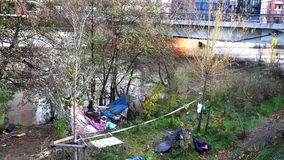 The camp of the homeless