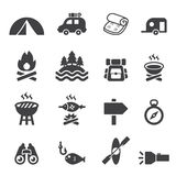 Camp icon set Royalty Free Stock Image