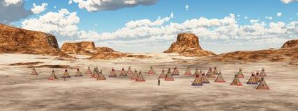 Camp indien dans les montagnes illustration libre de droits
