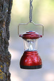 Camp lantern on rope Royalty Free Stock Image