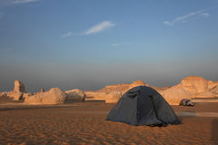 Camp in Libyan desert Stock Photography