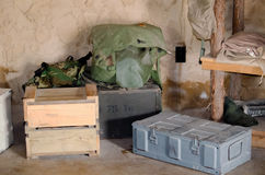 Camp militaire Images stock