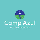 Camp Moon Outdoors Recreation Logo. This logo can be used for any camping, outdoors, or recreation business Stock Image