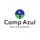 Camp Moon Outdoors Recreation Logo. This logo can be used for any camping, outdoors, or recreation business Stock Photography