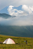 Camp in mountain royalty free stock photo
