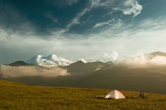Camp in mountain Stock Images