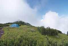 Camp on the mountain Royalty Free Stock Image