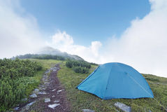 Camp on the mountain Stock Image