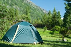 Camp in mountains Royalty Free Stock Image