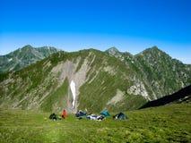 Camp on mountains (Romania) stock photos