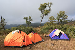Camp on moutain from  thailand Stock Image