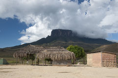 Camp near Roraima plateau Royalty Free Stock Image