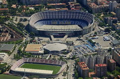 Camp Nou from the Air: FC Barcelona Royalty Free Stock Photo