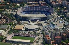 Camp Nou del aire: FC Barcelona foto de archivo libre de regalías