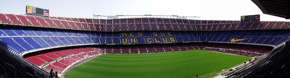 Camp Nou em Barcelona Fotos de Stock Royalty Free