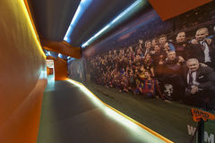 Camp Nou Experience Museum Royalty Free Stock Photography