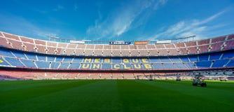 Camp Nou FC Barcelona. FC Barcelona Camp Nou football stadium Royalty Free Stock Photography