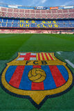 Camp Nou FC Barcelona. FC Barcelona Camp Nou football stadium Stock Image