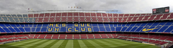 Camp Nou Panorama Royalty Free Stock Image