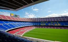 Camp Nou, stade de Barcelone Photographie stock libre de droits