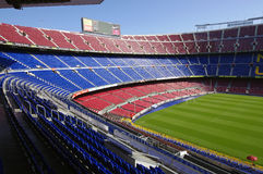 Camp Nou -stadion, Barcelona, Spanje Royalty-vrije Stock Foto