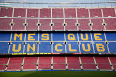The Camp Nou stadium Royalty Free Stock Photo