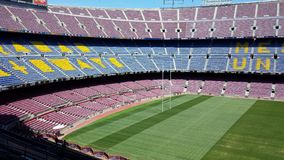 Camp Nou stadium in Barcelona, Spain Stock Images