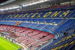 Camp Nou stadium before Champions League Stock Photo