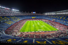Camp Nou stadium before Champions League Royalty Free Stock Image