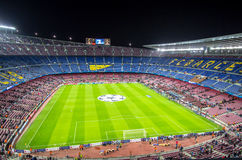 Camp Nou stadium before Champions League Stock Photography
