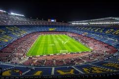 Camp Nou stadium before Champions League Stock Images