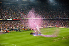 Camp Nou Stadium after the match against Osasuna Stock Image