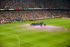 Camp Nou Stadium after the match against Osasuna Stock Photos