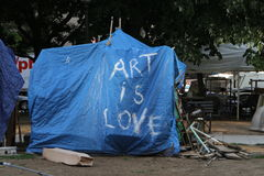 The camp of the Occupy movement in Washington Stock Photos