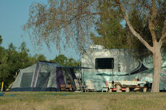 Camp Out. Camping at Buena Vista royalty free stock photos