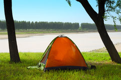 Camp out. In summer outdoors royalty free stock photography