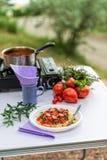 Camp pasta Royalty Free Stock Photos