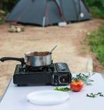 Camp pasta Stock Photo
