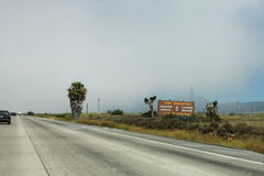 Camp Pendleton подписывает внутри Калифорнию Стоковые Фото