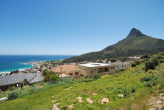 Camp's Bay and Lion's Head Royalty Free Stock Photography