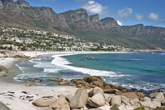 Camp's Bay near Cape Town Stock Image