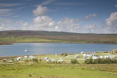 Camp Site at Borve, Isle of Skye Royalty Free Stock Photos