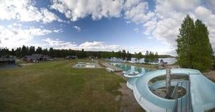 Camp site panorama Stock Image