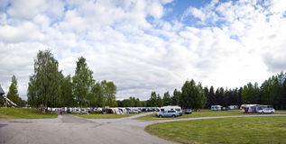Camp site panorama Royalty Free Stock Photography